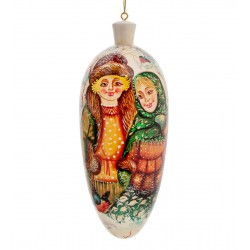 Pair of Sweethearts Christmas-tree Decoration, Art Painting