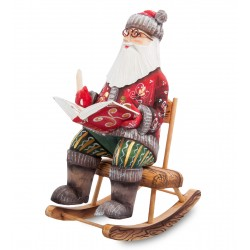 Father Frost with Book Figurine (Carved) 26 cm (10.2 inches)