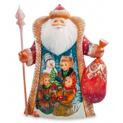 Father Frost with Sack Figurine (Carved) 27.5 cm (10.8 cm)