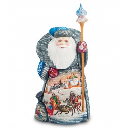 Father Frost Figurine (Carved) 23 cm (9 inches)