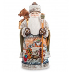 Father Frost with Bear Figurine (Carved) 22 cm (8.6 inches)