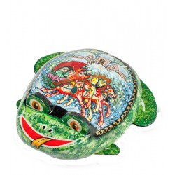 Palekh Russian Painted Box '' Frog ''