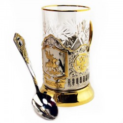 "Nickel-plated Cup Holder ""George"" gilded"