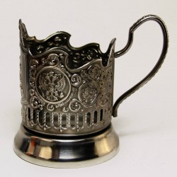 "Nickel-plated Cup Holder ""George"" niello"
