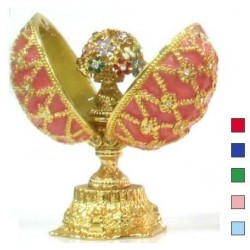 Faberge Double Egg with bouquet small in assortment (replica)