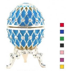 Faberge Easter Egg Grid with rhine stones small in assortment (replica)