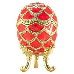 Faberge Egg Box scales red (replica)