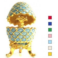 Faberge Easter Egg Pinecone with bouquet small in assort. (replica)