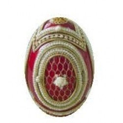 Faberge Egg Box Grid with rose red (replica)