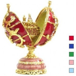 Faberge Double Egg with the Saviour in the assortment (replica)