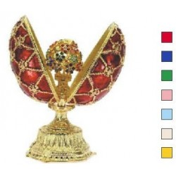 Faberge Double Egg with a bouquet beige (replica)