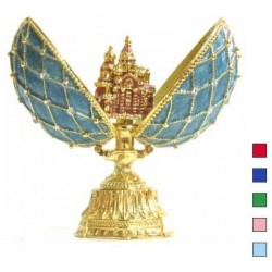 Faberge Double Egg grid with Savior medium in assort. (replica)