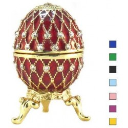 Faberge Easter Egg Grid with rhinestones in assortment (replica)