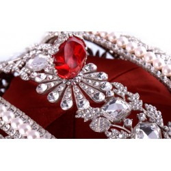 Imperial Crown Color Silver  with Swarovski Crystal Rhinestones (large)