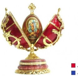 Faberge Double Egg pattern with cross medium in assortment (replica)