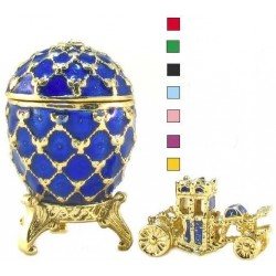Faberge Egg 2.5 cm with carriage in assortment (replica)