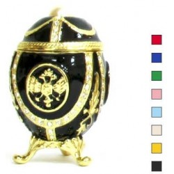 Egg with eagle and pearl in assortment.