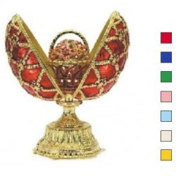 Faberge Double Egg with basket beige (replica)