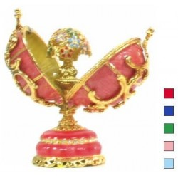 Faberge Double Egg with bouquet in assort. (replica)