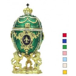 Faberge Easter Egg with lions in assortment (replica)
