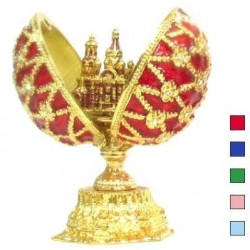 Faberge Double Egg Savior small in assort. (replica)