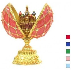 Faberge Double Egg with Saint Basil's Cathedral in assort. (replica)