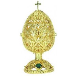 Faberge Easter Egg fishnet medium gold (replica)