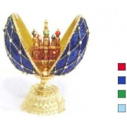 Faberge Double Egg grid with Saint Basil's Cathedral medium (replica)