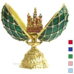 Faberge Double Egg grid with Saint Basil's Cathedral medium in assort. (replica)