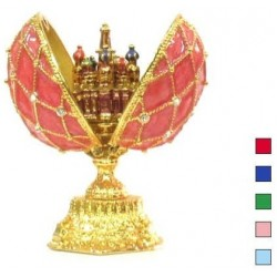 Faberge Double Egg grid with Saint Basil's Cathedral small in assortment (replica)