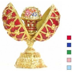 Faberge Double Egg basket black small in assort. (replica)