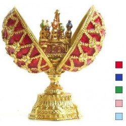 Faberge Double Egg with Saint Basil's Cathedral Rose color (replica)