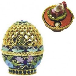 Faberge Easter Egg Grid chicken assort. (replica)