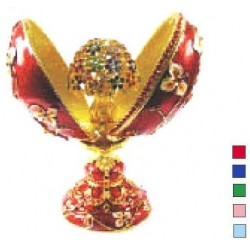 Faberge Double Egg bouquet blue (replica)