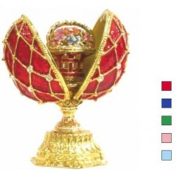 Faberge Double Egg grid with basket small in assortment (replica)
