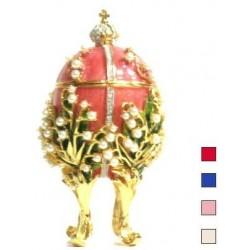 Faberge Easter Egg Lily of the valley small in assort. (replica)