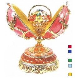Faberge Double Music Egg Large ornament with basket in assortment (replica)