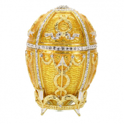 Egg Faberge Rosebud yellow