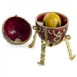 Faberge Egg Rosebud red