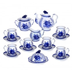 Tea set Blue Rhapsody Gzhel