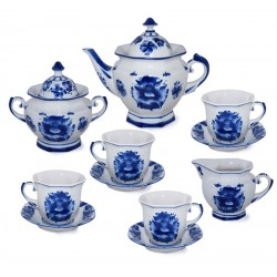 Tea set Faceted Gzhel