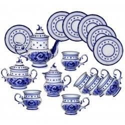 Tea set Dove Gzhel