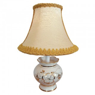 Lamp Gzhel (linen / gold)