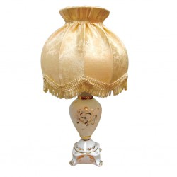 Lamp Firefly (linen / gold) Champagne shade Gzhel