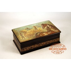Russian Painted Box with the image - Autumn time