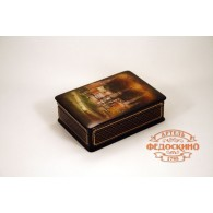 Russian Painted Box with the image - fireworks