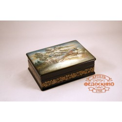 Box depicting Landscape with deer