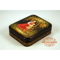 Russian Painted Box with the image - Alyonushka