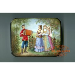 Russian Painted Box with the image - Accordion