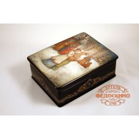 Russian Painted Box with the image - palm Sunday